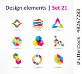business design elements   icon ... | Shutterstock .eps vector #48267283