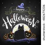 vector color chalk drawing of... | Shutterstock .eps vector #482675236