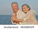 senior couple at sea | Shutterstock . vector #482680429