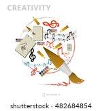creation of creative ideas... | Shutterstock .eps vector #482684854