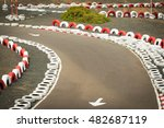 karting   kart circuit.  | Shutterstock . vector #482687119