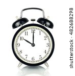 alarm clock isolated on white ... | Shutterstock . vector #482688298