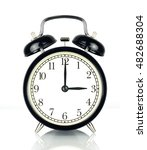 alarm clock isolated on white ... | Shutterstock . vector #482688304