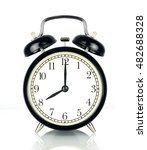 alarm clock isolated on white ... | Shutterstock . vector #482688328