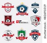 set of soccer football logos... | Shutterstock .eps vector #482691019
