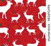 christmas seamless pattern. the ... | Shutterstock .eps vector #482691496