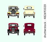 retro cars icons set vintage... | Shutterstock .eps vector #482693320