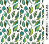 hand drawn seamless pattern... | Shutterstock .eps vector #482695156