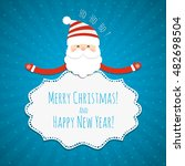 christmas background with santa ... | Shutterstock .eps vector #482698504