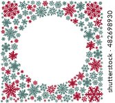 christmas snowflakes card | Shutterstock . vector #482698930