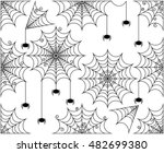 vector set of cute and creepy... | Shutterstock .eps vector #482699380