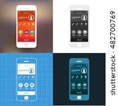 mobile app single screen ui kit....
