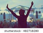 girl enjoying the music... | Shutterstock . vector #482718280