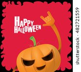 happy halloween vector creative ... | Shutterstock .eps vector #482721559