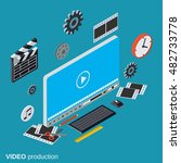 video production flat isometric ... | Shutterstock .eps vector #482733778