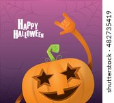 happy halloween vector creative ... | Shutterstock .eps vector #482735419