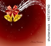 christmas background. abstract... | Shutterstock .eps vector #482735740
