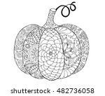 Zentangle Stylized Pumpkin....