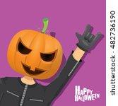 happy halloween vector creative ... | Shutterstock .eps vector #482736190