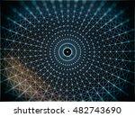futuristic virtual circle... | Shutterstock . vector #482743690