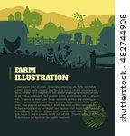 farm illustration background