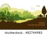 park illustration background ...   Shutterstock .eps vector #482744983
