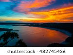 Colorful Dramatic Sunset Over...
