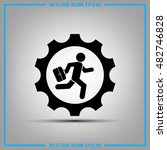 man and gear icon vector... | Shutterstock .eps vector #482746828