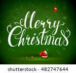 merry christmas hand drawn... | Shutterstock .eps vector #482747644