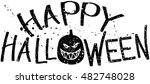 halloween sign with drops... | Shutterstock .eps vector #482748028