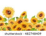 Sunflowers.floral Background....
