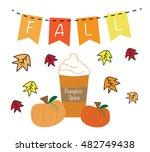 fall pumpkin spice | Shutterstock .eps vector #482749438