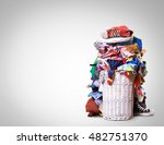 white straw basket full of... | Shutterstock . vector #482751370