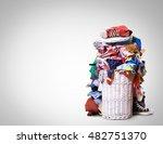 white straw basket full of... | Shutterstock . vector #482751370