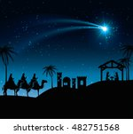 silhouette three wise kings...   Shutterstock .eps vector #482751568
