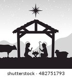 silhouette manger merry... | Shutterstock .eps vector #482751793