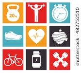 sport fitness healthy life... | Shutterstock .eps vector #482752510