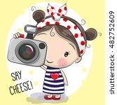 Cute Cartoon Girl With A Camera ...