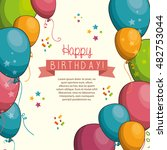 happy birthday design isolated   Shutterstock .eps vector #482753044