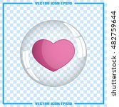 heart bubble icon vector... | Shutterstock .eps vector #482759644
