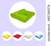 color icons stacked towels.... | Shutterstock .eps vector #482760376