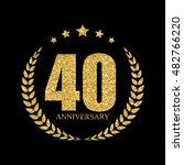 template logo 40 years... | Shutterstock .eps vector #482766220
