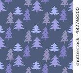 hand drawn christmas seamless... | Shutterstock .eps vector #482768200