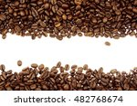 closeup of coffee beans on... | Shutterstock . vector #482768674