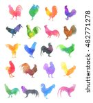 Watercolor Chicken Pattern....