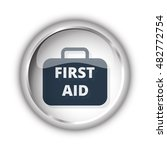 web button with black first aid ... | Shutterstock .eps vector #482772754