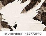creased crumpled paper texture... | Shutterstock . vector #482772940