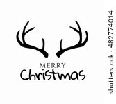merry christmas and happy new... | Shutterstock .eps vector #482774014