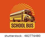 School Bus Illustration On...