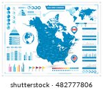 usa and canada map with... | Shutterstock .eps vector #482777806
